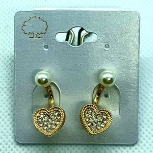 Jewelry - Crystal Pave' Front Back Earrings